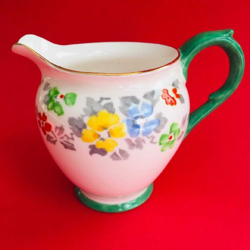 Crown Staffordshire | Milk Jug Creamer | Hand Painted 1900s